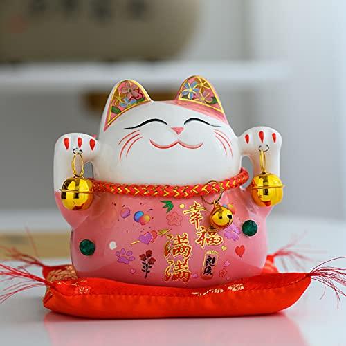 hongruida Maneki Neko - Caja de ahorros de cerámica, diseño de gato de la fortuna