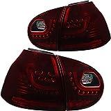 Faros traseros para Golf V 5 1K1, año de fabricación 03-09 rojo oscuro GTI R óptica sólo sedán