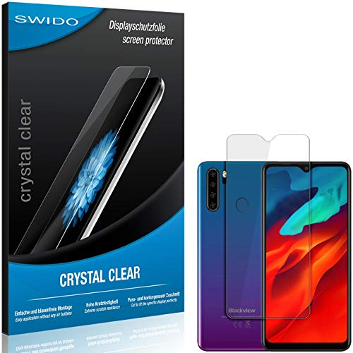 SWIDO Schutzfolie für Blackview A80 Pro [2 Stück] Kristall-Klar, Hoher Härtegrad, Schutz vor Öl, Staub und Kratzer/Glasfolie, Displayschutz, Displayschutzfolie, Panzerglas-Folie