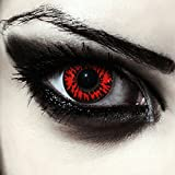 """Designlenses, Dos lentillas de color rojo para Halloween vampiro disfraz lentes sin dioprtías/corregir + gratis caso de lente """"Vampire'"""