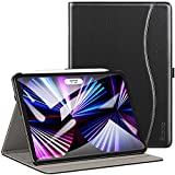 ZtotopCases for New iPad Pro 11 Case 2021&2020, Premium PU Leather Business Case Smart Folio Cover with Auto Wake/Sleep, Supports iPad Pencil for iPad Pro 11' 3rd/2nd Generation, Black