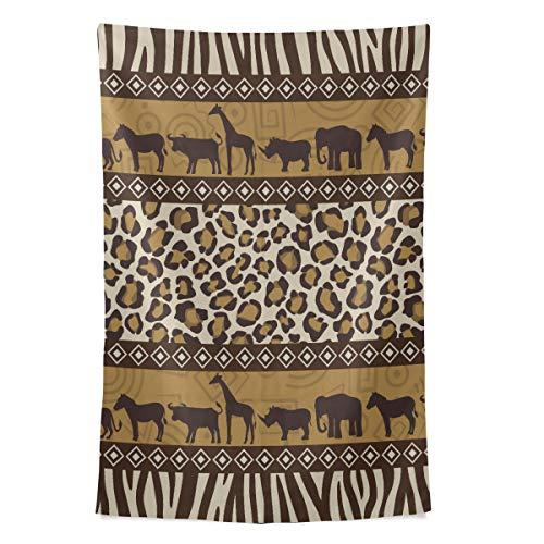 African Tribal Ethnic Style Art Wandteppich Wandbehang Cool Post Print Für Wohnheim Home Wohnzimmer Schlafzimmer Tagesdecke Picknick Bettlaken 80 X 60 Zoll
