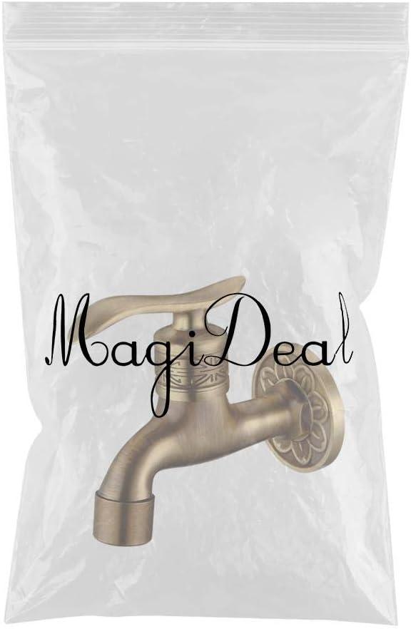 A 10.5x9cm Baoblaze Dragon Carved Water Tap Brass Wall Mount Washing Machine Faucet Bibcock Taps