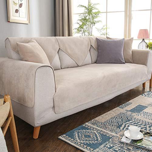 Preisvergleich Produktbild weiwei Wasserdicht Sitzer Sofa Überwürfe, urin Pet Maschine Waschbar Couch Abdeckungen Stretch Sofa Abdeckung, einfache Four Seasons Universal-beige 70x180cm(28x71inch)