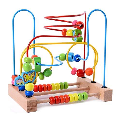 LSZ Modelado Creativo Bead de Tres alambres Forma de Madera Forma de Color Reconocimiento de Color Entrenamiento práctico Formación Infancia Early Childhood Education Brain Juego Juguetes de Bebe