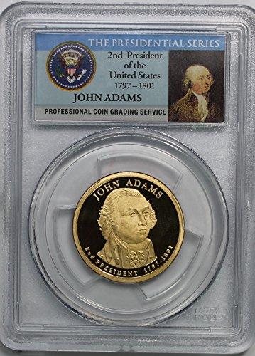 2007 S John Adams Presidential Commemorative $1 PR70DCAM PCGS