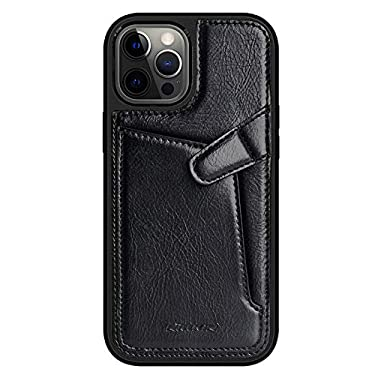 """Nillkin Case for Apple iPhone 12 / Apple iPhone 12 Pro (6.1"""" Inch) Aoge Leather 360 Protection Elite Business Case with Soft Microfiber Lining & Internal Card Slot Black"""
