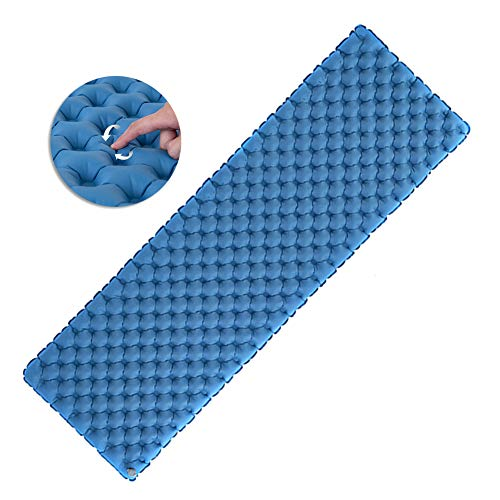 IYMSS Inflatable Camping Mat, Ultralight Sleeping Mat Pad, Waterproof Sleeping Mat Ultralight Camping for Camping Tent, Travel, Hiking, Backpacking,Blue
