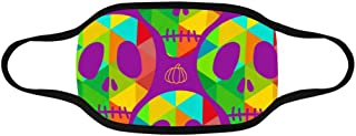 INTERESTPRINT Skulls in Polygon Style and Pumpkins Halloween Face Mouth Cover Mask Soft and Breathable