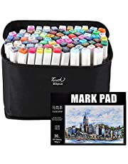 80 Colors Markers Art Set Permanent Markers Sketch Markers for Kids Adults Artists