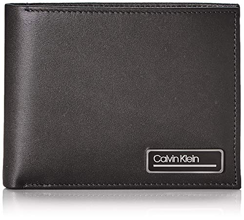Calvin Klein Primary L 5cc W/Coin - Portafogli Uomo, Nero (Blackwhite Black), 1x1x1 cm (W x H L)