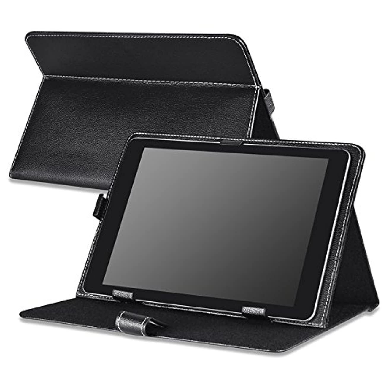Insten Heavy-duty Protective High Impact Durable Horizontal Stand Leather Case compatible with Apple iPad 9.7