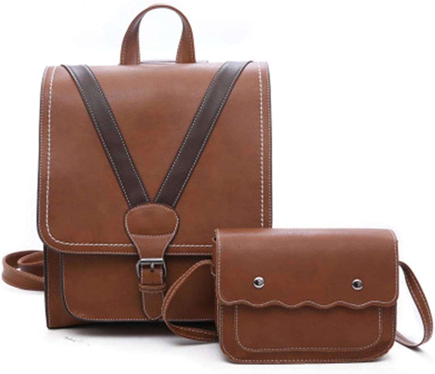 Pu Leather Retro Fashion Backpack, Simple Versatile Backpack, Suitable for Women Shopping, Go to Work