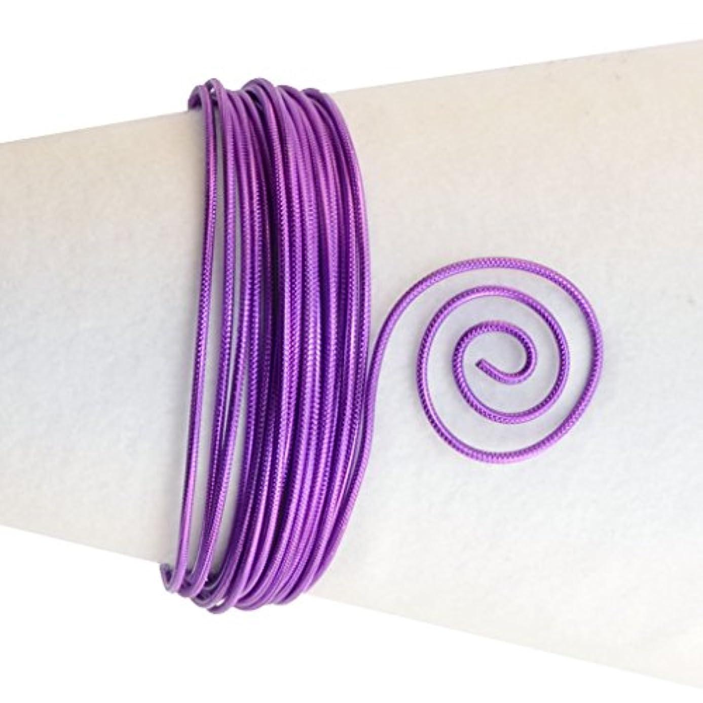 Vaessen Creative Aluminium Wire Embossed Round 2mm 5m Lilac,