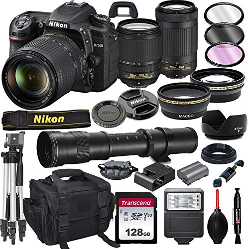 Nikon D7500 DSLR Camera with 18-140mm VR and...