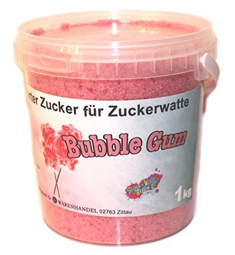 1 Kg Aromazucker Zucker für Zuckerwattemaschinen Bubble Gum