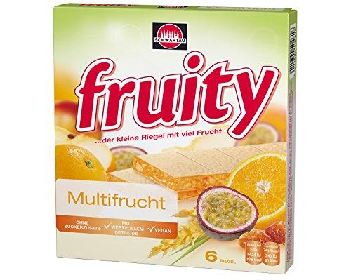 Schwartau fruity Gelbe Multifrucht, Fruchtriegel mit Oblate, 8er Pack (8 x 144 g)