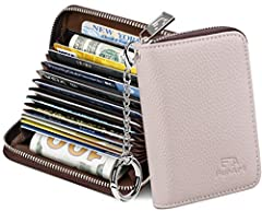 """[Plenty of Space] 15x / 16x card slots only measuring 4.3"""" x 3.0"""" x 0.9"""", including 13 credit card slots, 2 cash slots [Protect Information Leakage] Prevents your vital information/cards from unnoticed scan with 2 outer layers RFID blocking materials..."""