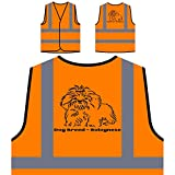 Dog Breed Bolognese Personalized Hi Visibility Orange Safety Jacket Vest Waistcoat s796vo