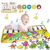 Magicfun Tapis de Piano Tapis de Musical, Tapis de Piano pour Enfants Jouet de Tapis de Musique pour Piano Toddler Filles Garçons...