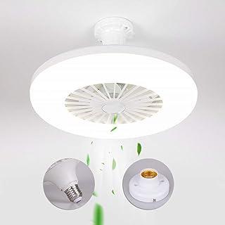 ACHNC Ventilador de Techo Pequeño Con Luz, 36W Moderna Simple LED Lámpara de Techo Con Ventilador Para Dormitorio Balcón Baño Cocina Restaurante Estudio Infantil Iluminación, E27