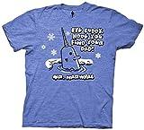 Elf The Movie Christmas Mr. Narwhal T-Shirt (Medium, Heather Royal Blue)