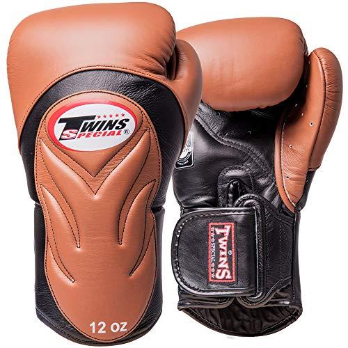 Twins Boxhandschuhe, Premium, BGVL-6, braun-schwarz Größe 14 Oz