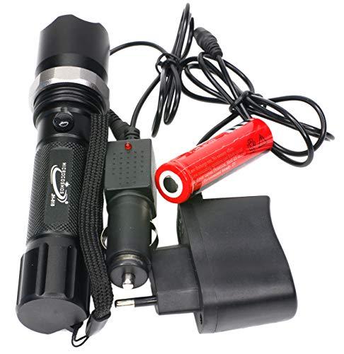 Linterna militar táctica de LED multifunción – Gran alcance y duración – Swat