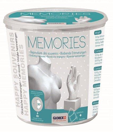 Glorex 6 2704 011 - Abform Set Memories, Komplettset zum abformen und gießen von größeren Objekten