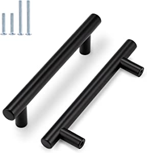 Probrico 10 Pack|4 Inch Black Drawer Handles Dresser Pulls,Cabinet Handles Stainless Steel Pulls for Kitchen Closet Cupboard Wardrobe Bathroom Vanity Nightstand Coffee Table Chest of Drawers