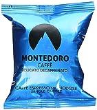 Montedoro Delicato - 100 Espresso capsule Compatible with Lavazza Point Matinee - Decaffeinated Blend.