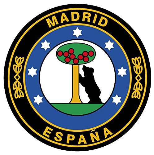 Aufkleber Kreis Madrid Ø 50 mm.