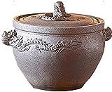 HYYDP Tegami Vaso di Cottura in Terracotta Casseruola Piatto Casseruola Pot-Alta Resistenza alla Temperatura, Riscaldamento Uniforme (Size : 3.5L)