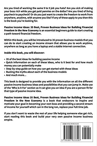 51goC+fVERL - Passive Income: Ideas - 35 Best, Proven Business Ideas for Building Financial Freedom in the New Economy - Includes Affiliate Marketing, Blogging, Dropshipping and Much More!
