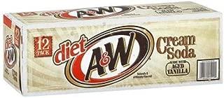 A&W Diet Cream Soda, 12 Ounce (12 Cans)
