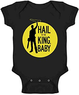 Hail to The King Baby Horror Army Zombie Infant Baby Boy Girl Bodysuit