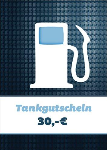 Cooler Tankgutschein (Blanko)/ Geschenkkarte mit Zapfsäule über 30 Euro zum Führerschein, für Spritztouren & Reisekosten - nicht vergessen Geld bei zu legen :) • schöne Klappkarte mit Umschlag als Grußkarte