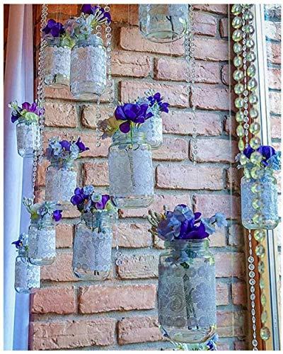 Kit de pintura por números Pinceles de bricolaje Acrílico Adultos Pintura para principiantes para regalo Decoración de su hogar 40x50cm Sin marco Flor morada en botella de vidrio