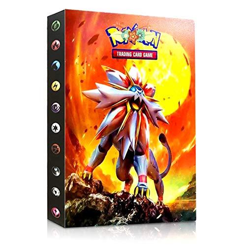 Pokemon Carte Album, Album di Pokemon Trading Card Album Porta Carte Pokemon Album Cartella Raccoglitore Libro 30 Pagine 240 capacità di Carte (Sun And Mood)