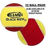 Gamma Sports Kids Training (Transition) Balls, Yellow/Orange, Quick Kids 36, 12-Pack