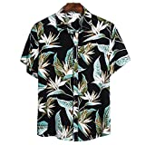Holyeagle Camicie Floreali Abbottonate Casual da Uomo Young,Camicie Hawaiane A Maniche Corte,Camicie Casual da Spiaggia