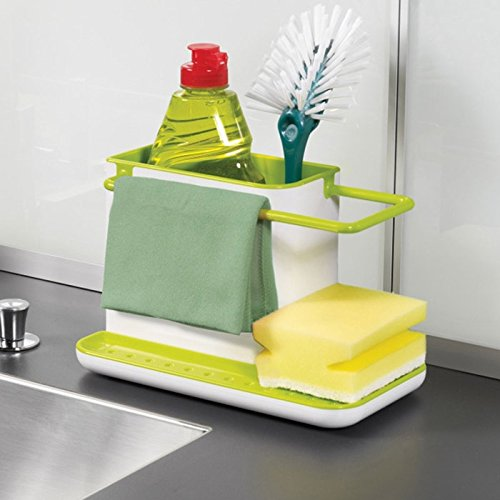 HOME CUBE ABS Plastic 3-in-1 Stand for Kitchen Sink