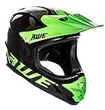 AWE® AWEBlast™ free 5 anno Crash ricambio * BMX downhill casco nero verde Medium 56 - 58 cm