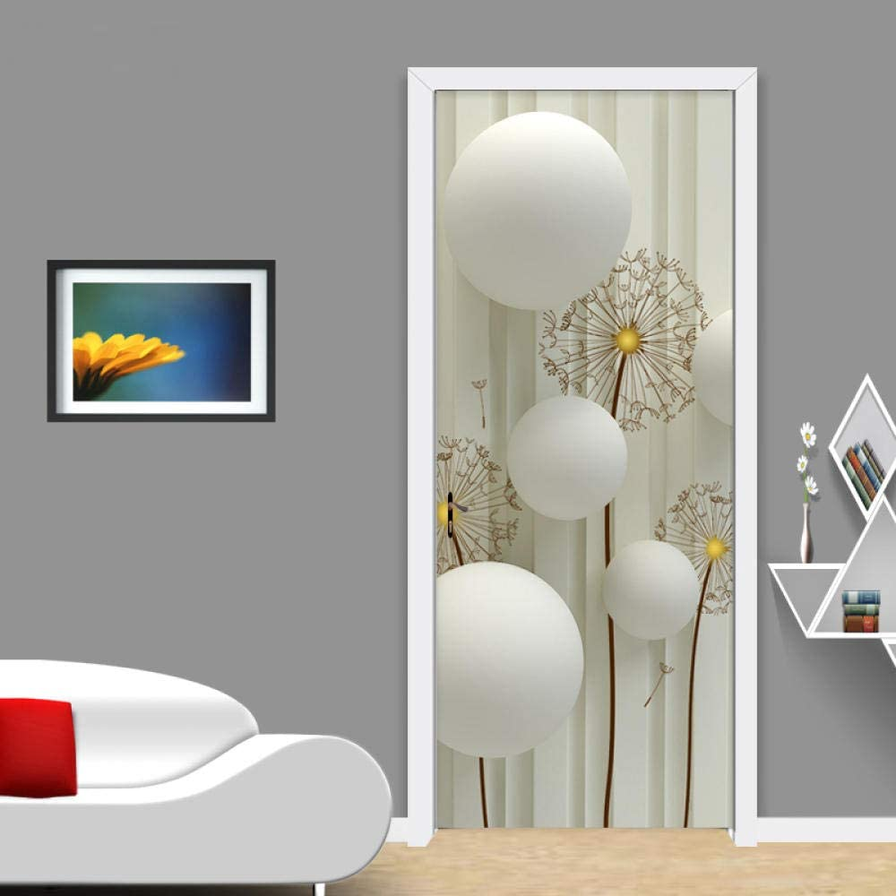 YQLKD Door Decal Modern Simple Wallpaper Ball Circle Photo Spring new work one after another Mural Limited time trial price
