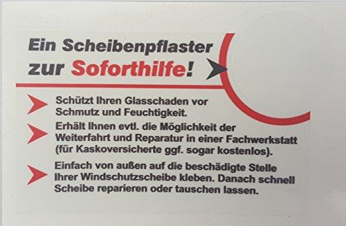 norrun 1 Stück Scheibenpflaster Auto Steinschlag Glasschaden Windschutzscheibe Schutz Pflaster