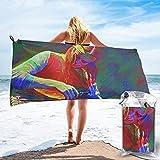 XINPO Jaco Pastorius toallas de baño suaves impresas de secado rápido, toalla de playa portátil de gran tamaño toalla de viaje 27.5 x 55 pulgadas