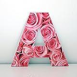 Letras Decorativas A con Frontal de Flores. Altura 30 cms.