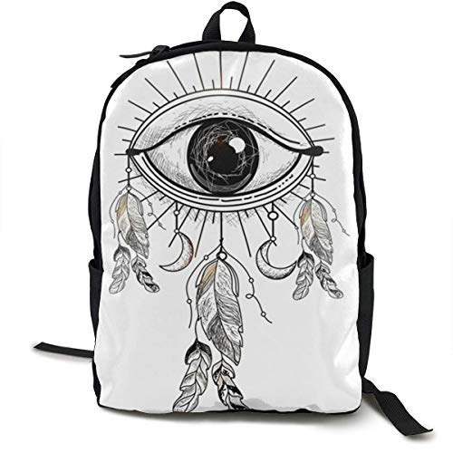 All-Seeing-Eye Travel Computer Bag Laptop Backpack Unisex, School College Fits 15'' Laptop