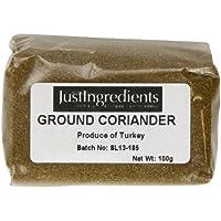 JustIngredients Essential Coriander Cilantro Molido - 5 Paquetes de 100 gr - Total: 500 gr