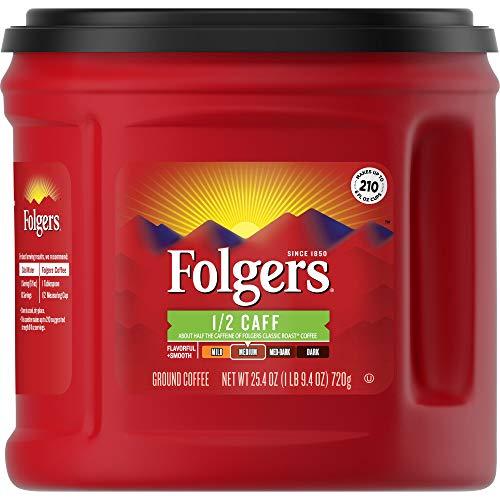 Folgers 1/2 Caff Half Medium Roast Ground Coffee, 25.4 Oz Now $4.55